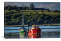 Boats on the Swale Estuary, Canvas Print