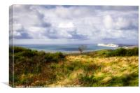 View across the Isle of Wight, Canvas Print