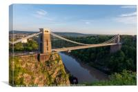 Summer Evening Bristol Clifton Suspension Bridge, Canvas Print