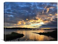 Chichester Harbour Sunrise, Canvas Print