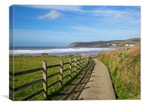 Pathway to Croyde Beach in North Devon, Canvas Print