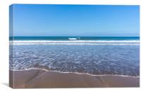 Sandymouth beach near Bude in Cornwall, Canvas Print