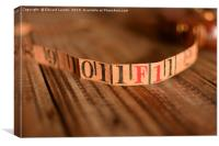 Lovely Old Measuring Tape at 1 Foot, Canvas Print