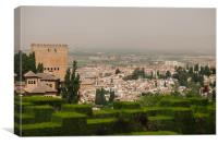 Granada view from Alhambra, Canvas Print