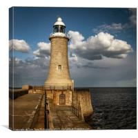 Tynemouth Lighthouse, Canvas Print