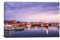 View of the Port of Bodo, Norway., Canvas Print