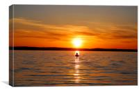 Lake Simeco Sunset Canada, Canvas Print