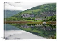 Loch Leven reflections                         , Canvas Print