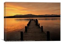 Sunset on the Jetty , Ambleside.       , Canvas Print