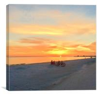 Florida Sunset., Canvas Print