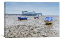 Fishing boats , Weston Supermare , Canvas Print