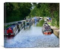 Narrowboats at Fradley Junction, Canvas Print