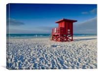 Lifeguards Post, Siesta Key., Canvas Print