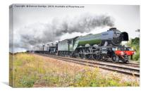 Flying Scotsman steam train double head, Canvas Print