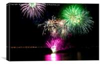 Weymouth bank holiday fireworks, Canvas Print