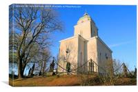 Suomenlinna Church in October Sunlight, Canvas Print