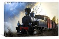 Steam Train Sohvi HKR5 Pulling Carriages, Canvas Print