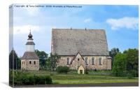Medieval Sauvo Church, Finland., Canvas Print