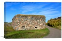 Suomenlinna Fortifications in October, Canvas Print