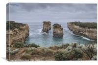 Rock formations at Tom and Eva lookout,  Australia, Canvas Print