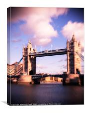 Zoom burst effect - Iconic landmark Tower Bridge, Canvas Print