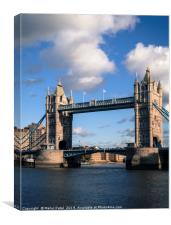 Iconic landmark Tower Bridge along the river Thame, Canvas Print