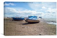 Whilst the tide is out, Canvas Print