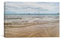 Views from Swanage Beach, Canvas Print