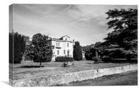 Bury Knowle House in black and white, Canvas Print