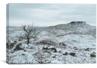 Roman Hill Fort Covered in Snow, Canvas Print