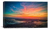 Southport Pier at Sunset, Canvas Print