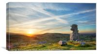 Bowerman's Nose at Sunset, Canvas Print