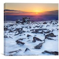Staple Tor in the Snow, Canvas Print