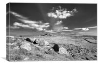 Saddle and Rippon Tors, Canvas Print