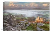 Widecombe-in-the-Moor in the Mist, Canvas Print