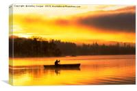 Paddling dawn., Canvas Print