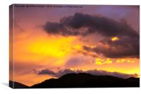 Loughrigg sunset., Canvas Print