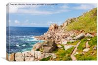 Cornish coast path., Canvas Print
