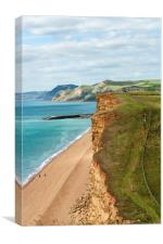 Dorset Coast UK, Freshwater Bay, Canvas Print