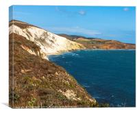 Beautiful Isle of Wight, Compton Bay viewed from F, Canvas Print