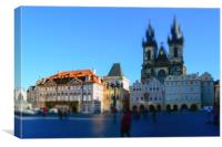 Old town square in Prague, Canvas Print