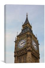 Big Ben against blue and cloudy sky, Canvas Print