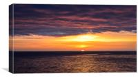 Sunset over the Baltic sea, Canvas Print