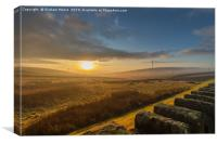 Ashworth Reservior Sunrise, Canvas Print