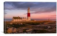 Lighthouse at Sunset, Dorset, Canvas Print