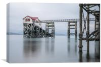 Old Mumbles life boat house, Canvas Print