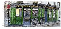The Old Kings Head Public House, London EC2A, Canvas Print