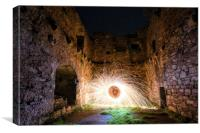 Lachlan Castle Fire Poi, Canvas Print