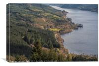 Loch Eck From Above, Canvas Print