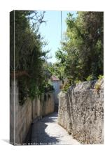 Walkway leading down to Old Town Dubrovnik, Canvas Print